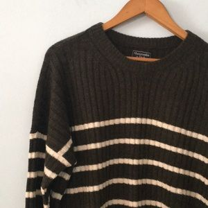 Abercrombie stripe sweater NWT